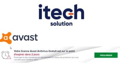 Problème d'activation d'AVAST ANTIVIRUS Juillet 2021